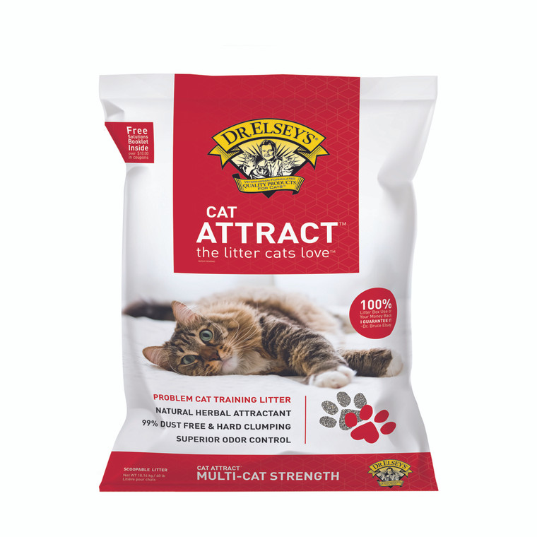 """Dr. Elsey""""s Cat Attract Scoopable Cat Litter 40lb"""