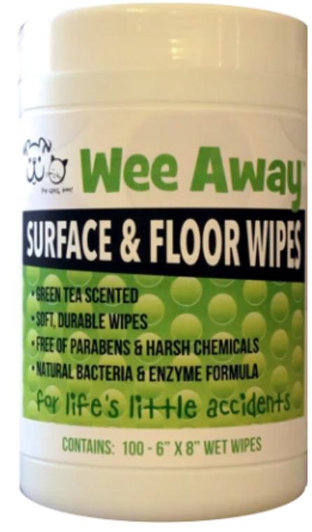Wee Away Surface & Floor Wipes 100ct