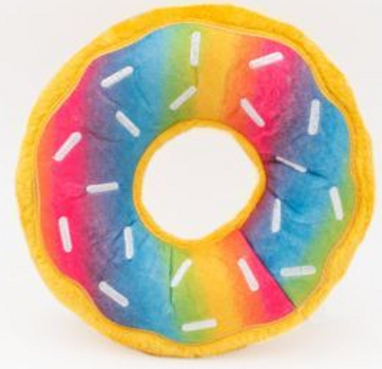 Zippy Paws Jumbo Rainbow Donut Dog Toy