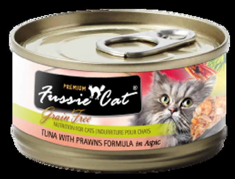 Fussie Cat Tuna with Prawns Can Cat Food 2.82oz