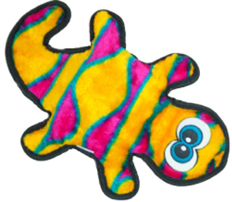 Outward Hound 2 Squeak Orange Invincible Gecko Dog Toy