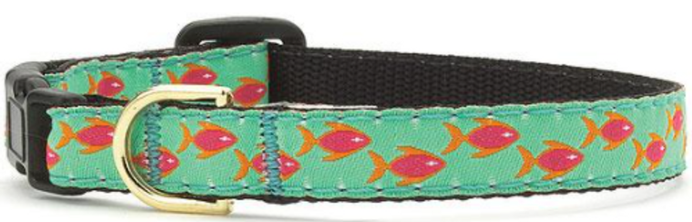 10 inch Upcountry Tropical Fish Safety Cat Collar