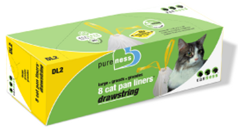 Vanness Drawstring Cat Litter Pan Liners 8 count Large