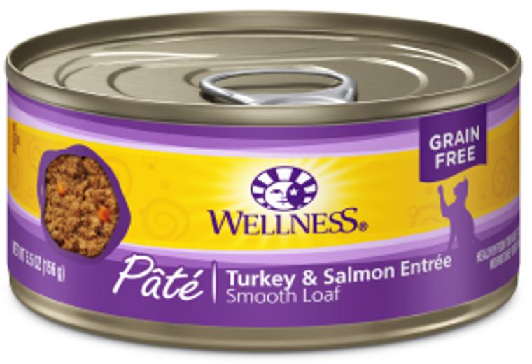 Wellness Turkey Salmon Cat Food 5.5oz