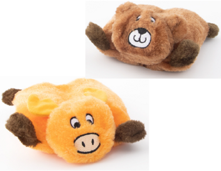 Zippy Paws Squeakie Pads Bear & Moose Dog Toy