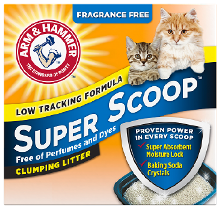 Arm & Hammer Super Scoop Clumping Unscented Cat Litter 40lb