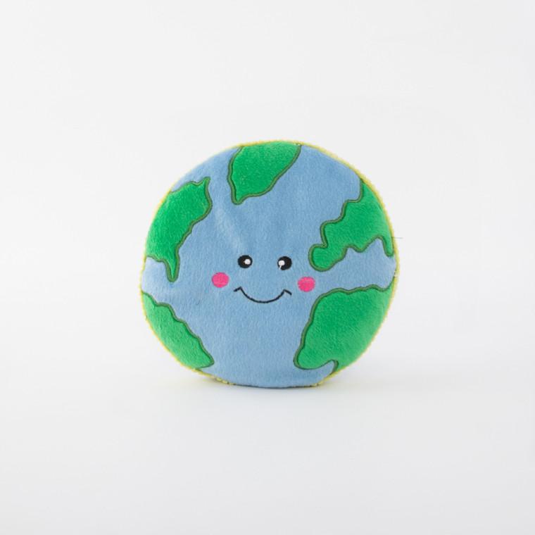 Zippy Paws Squeakie Pattiez Earth Dog Toy
