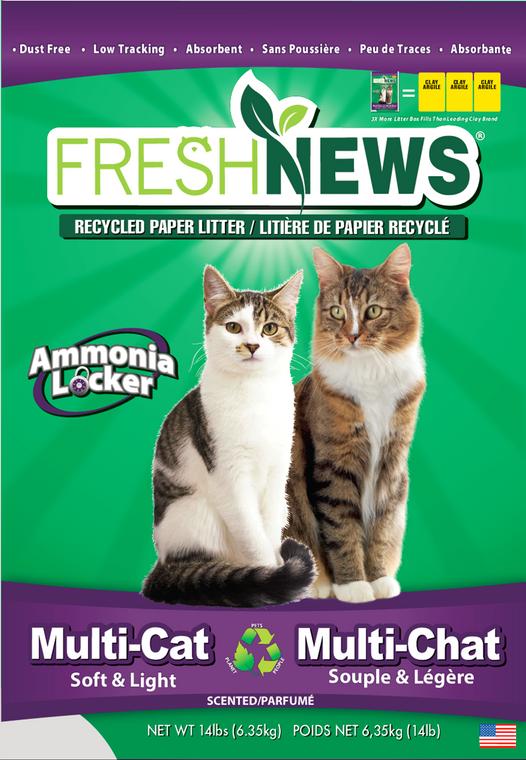FreshNews Recycled Paper Multi Cat Litter 14lb