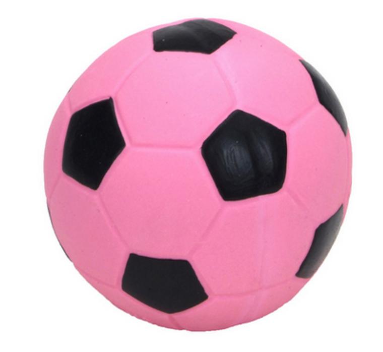 "Coastal 3"" Pink Latex Soccer Ball Dog Toy"
