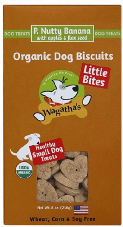 Wagatha's Little Bites Peanut Butter Banana Dog Treat 8oz