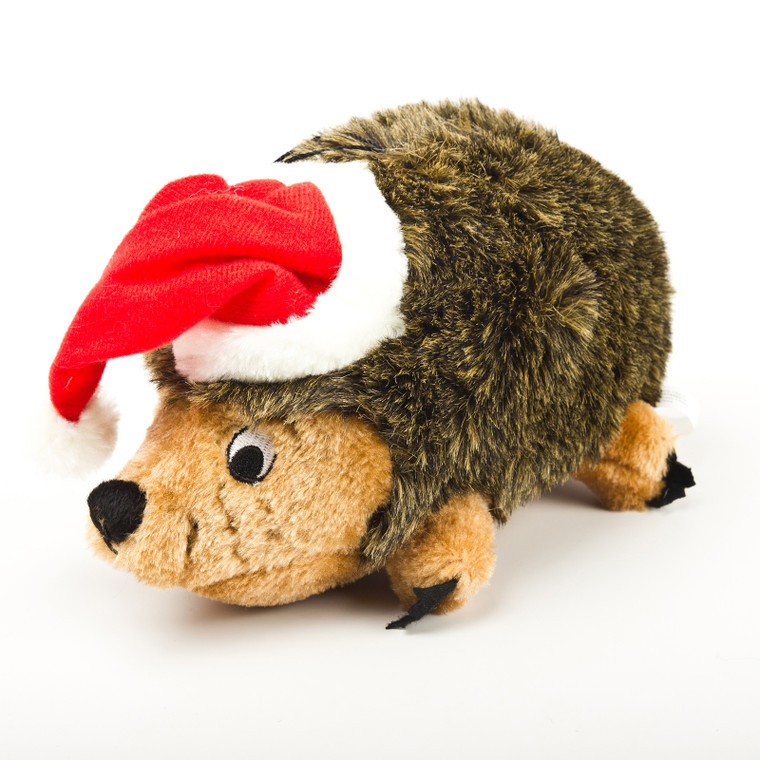 Outward Hound Extra Large Hedgehog with Santa Hat Holiday Dog Toy