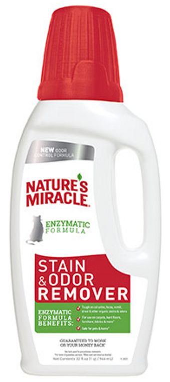 32oz Nature's Miracle Stain & Odor Eliminator Cat