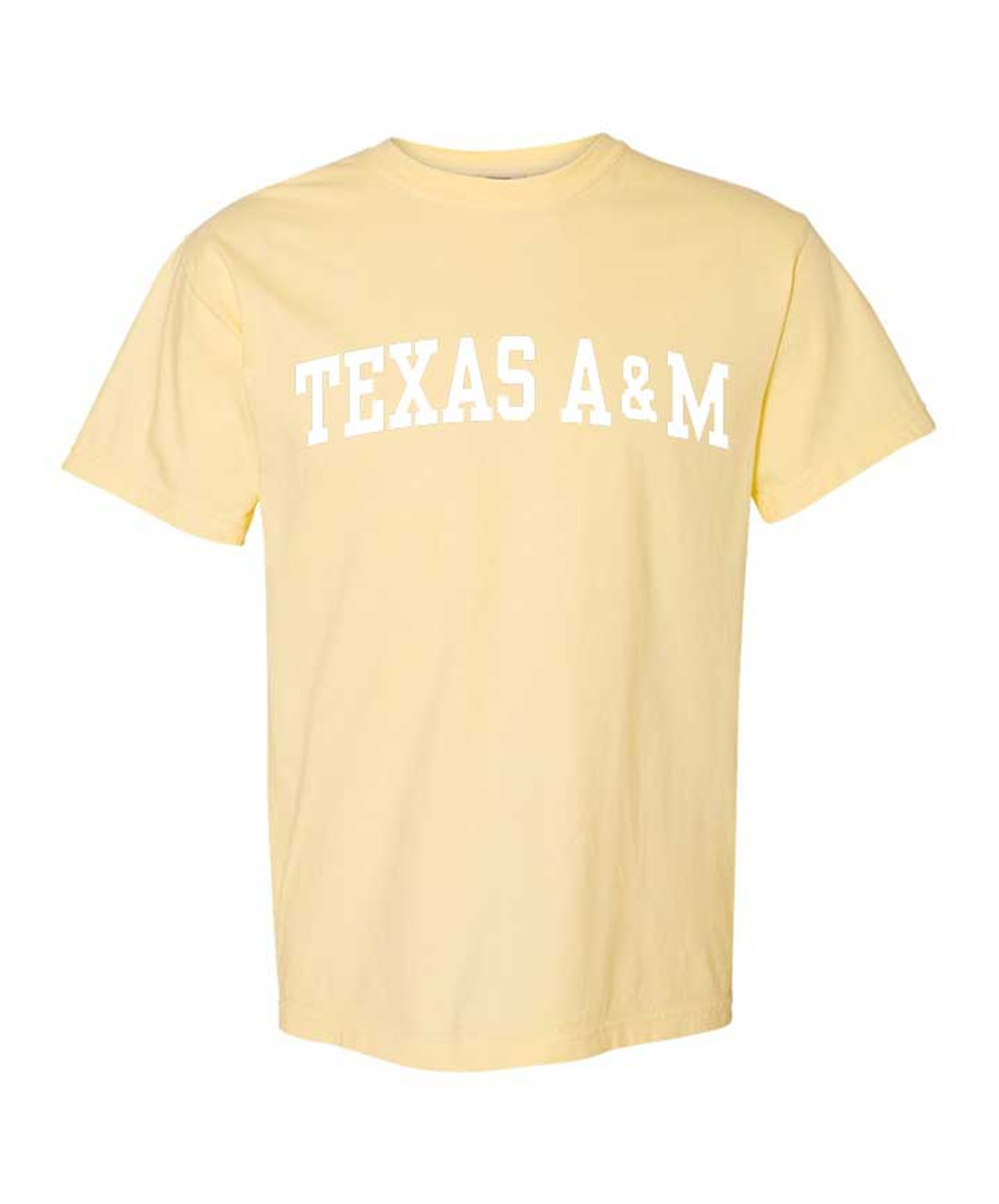 Texas A/&M Aggies Arch Banana Short Sleeve Comfort Colors T-Shirt