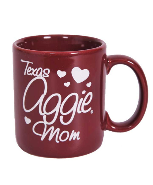 Texas A&M Aggie Mom Heart Maroon Coffee Mug