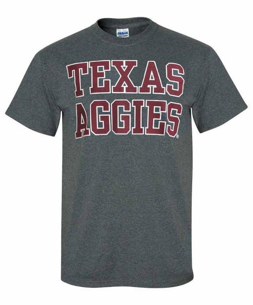 Texas A&M Aggies Stacked Dark Heather T-Shirt