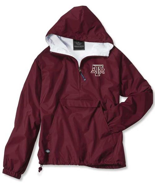 Texas A&M Aggies Maroon Rain Jacket