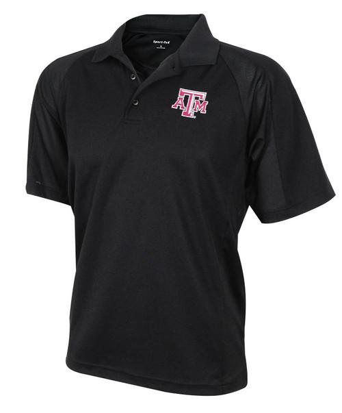 Texas A&M Aggies Black Sport Tek Men's Polo Shirt