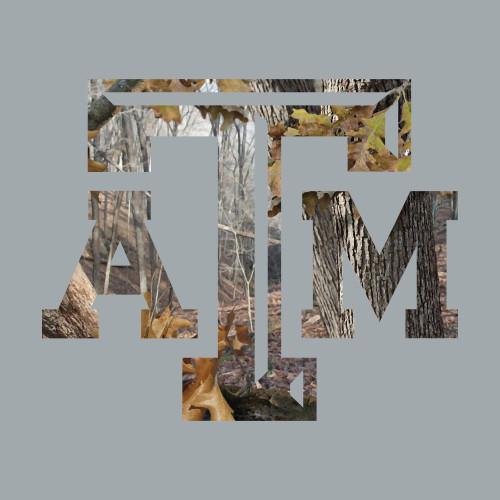 Texas A&M Aggies 7.25 x 6 Camo Logo Decal