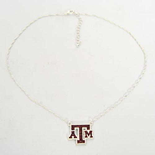 Texas A&M Aggies Crystal Logo Necklace