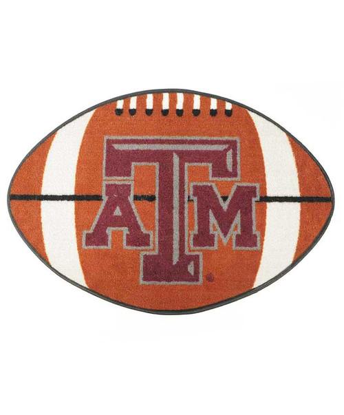"""Texas A&M Aggies 22"""" x 35"""" Football Shaped Door Mat"""