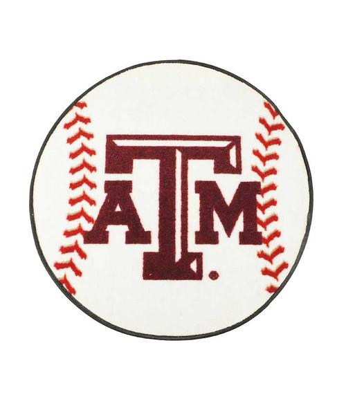 """Texas A&M Aggies 29"""" Baseball Shaped Door Mat"""