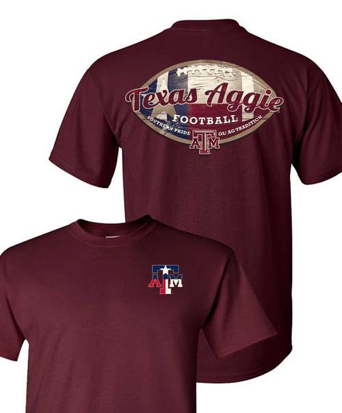 Texas A&M Aggies Football Maroon T-Shirt
