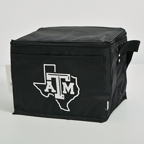 Texas A&M Aggies State of Texas Black 6 Pack Cooler