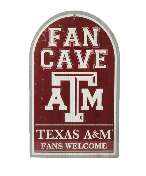 Texas A&M Aggies Fan Cave Wooden Sign