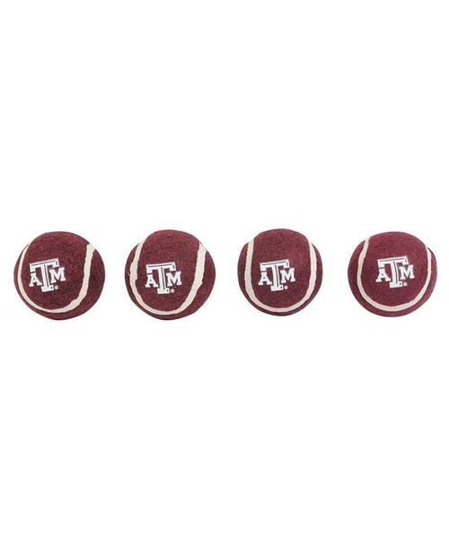 Texas A&M 4-Pack Tennis Balls