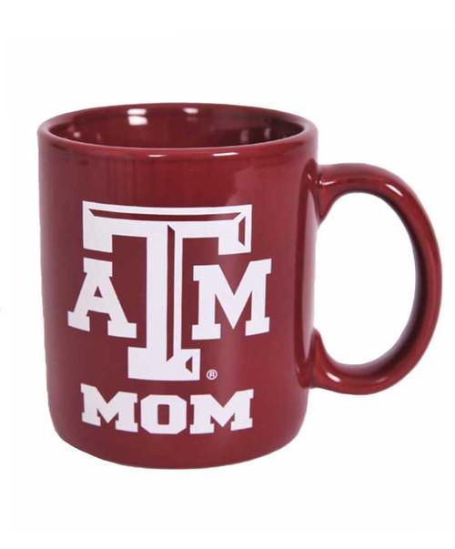 Texas A&M Aggies Maroon ATM Mom Ceramic Coffee Mug