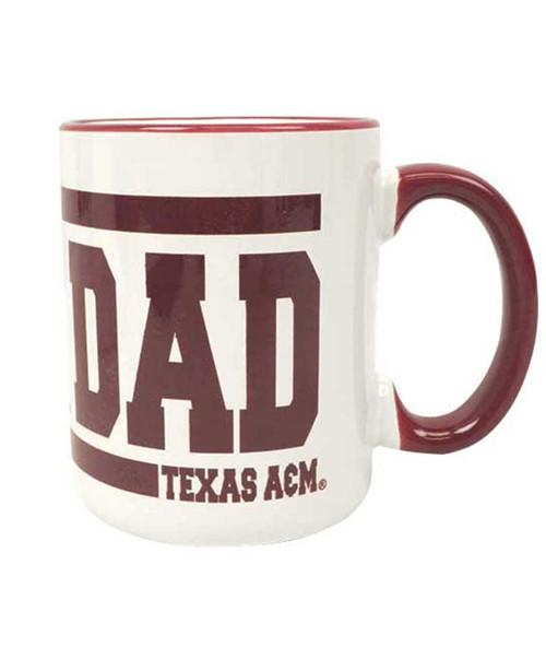Texas A&M Aggies Maroon and White Aggie Dad Ceramic Coffee Mug
