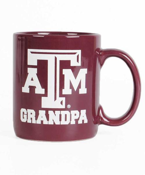 Texas A&M Aggie Grandpa Maroon Mug