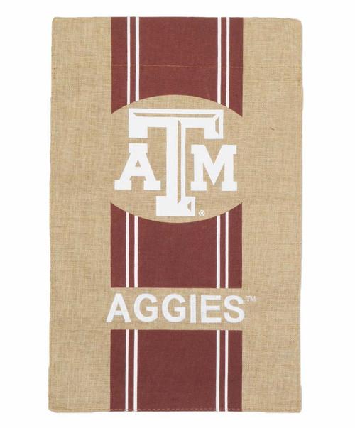 Texas A&M Burlap Garden Flag