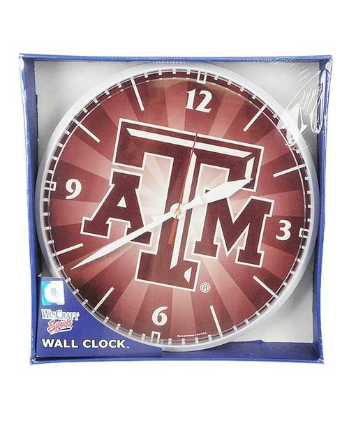 Texas A&M Aggies Round Wall Clock