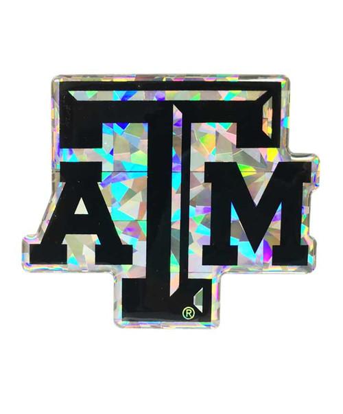 Texas A&M Aggies Holographic Reflective Black Emblem
