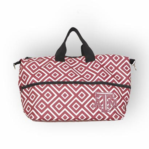Texas A&M Aggies Maroon and White Expandable Tote