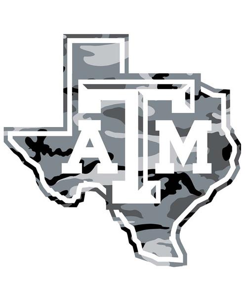 Texas A&M Aggies 5 x 5 Lonestar Grey Camo Decal