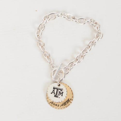 Texas A&M Aggies Stamp Bracelet