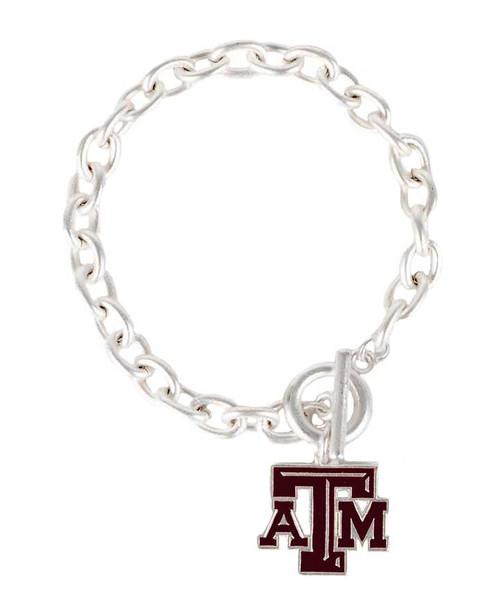 Texas A&M Aggies FAN-tastic Silver Bracelet