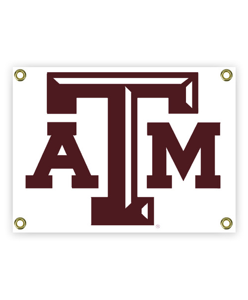 Texas A&M White ATM Sign with Grommets (IN-STORE PICK UP ONLY)