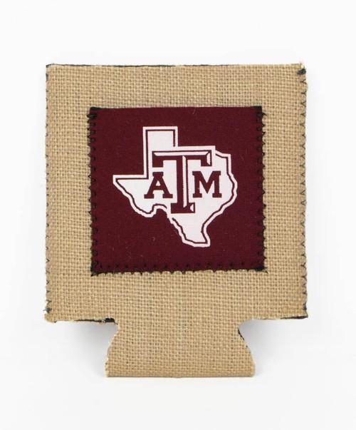 Texas A&M Lonestar Burlap Koozie