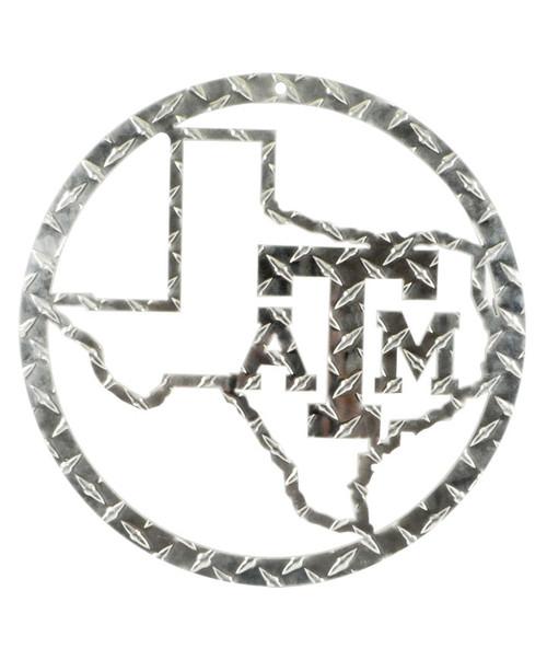Texas A&M Aggies Silver Diamond Plate Wall Sign