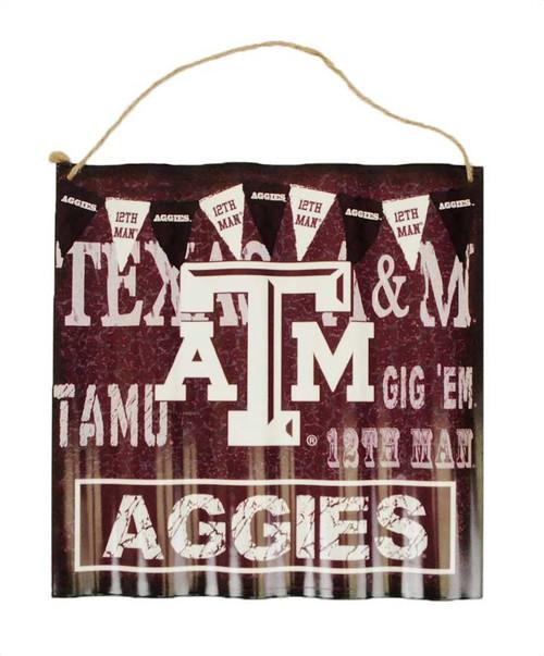Texas A&M Aggies Ripple Aluminum Sign