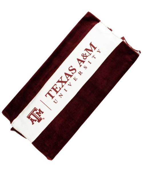 Texas A&M Aggies Classic Rubgy Beach Towel Maroon & White