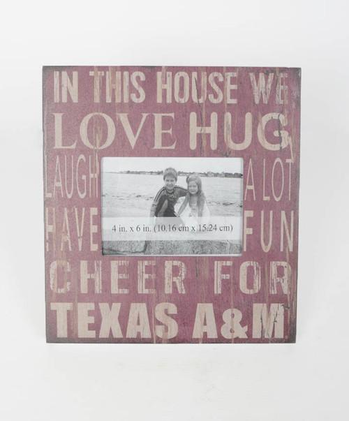 Texas A&M Aggies 10x10 In This House Photo Frame