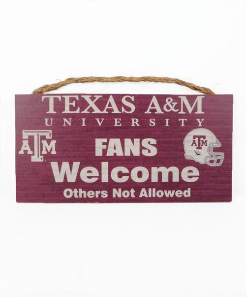 Texas A&M Aggies Fans Welcome Wall Decor
