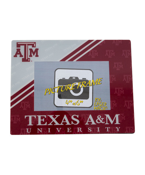 Texas A&M Aggies Laser Color Frost Picture Frame