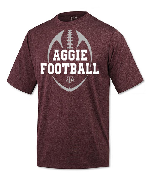 Texas A&M Aggies Youth Aggie Football Maroon Short Sleeve Active T-Shirt