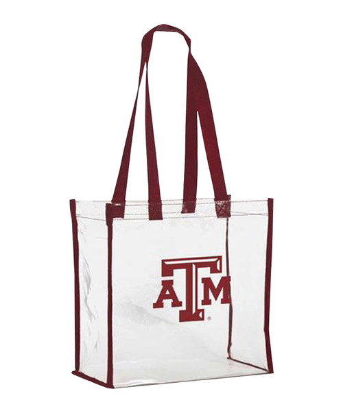 Texas A&M Aggies Clear Stadium Tote With Maroon Handles