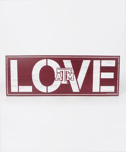 Texas A&M Aggies Love ATM 8x23 Wood Sign